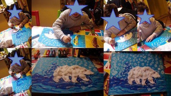 L'ours polaire sur la banquise...