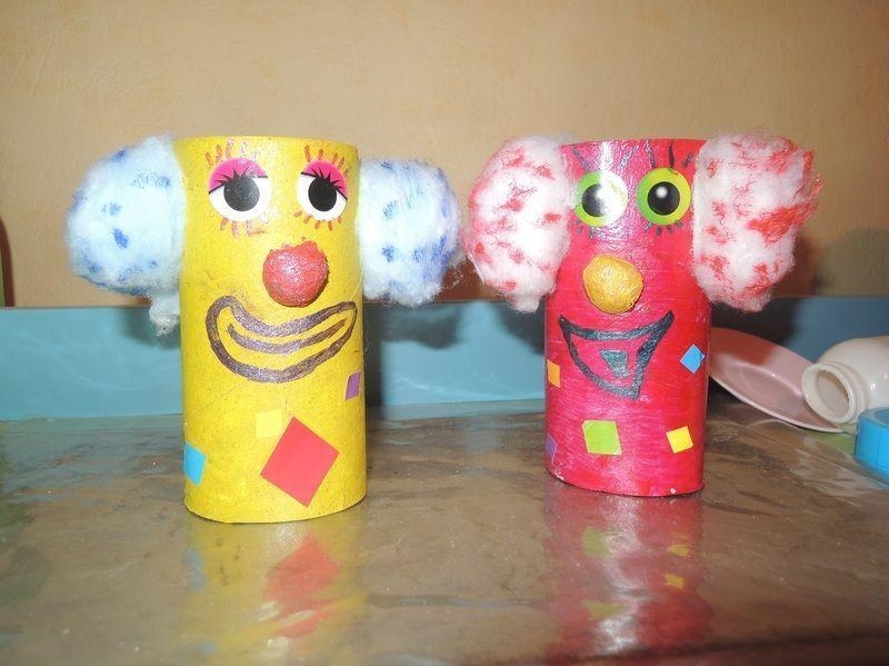 Clown rigolo centerblog - Bonhomme de neige avec rouleau papier toilette ...
